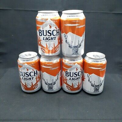 busch light beer deer can lot 6 limited edition empty orange buck rack qr code ebay