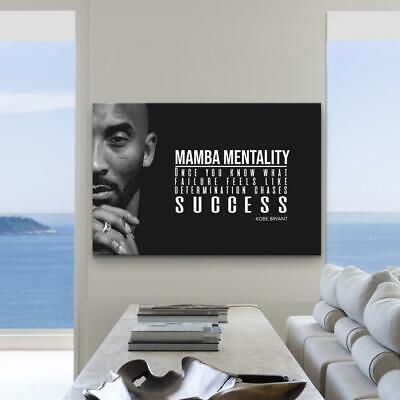 kobe bryant quote poster kobe bryant canvas mamba mentality definition ebay