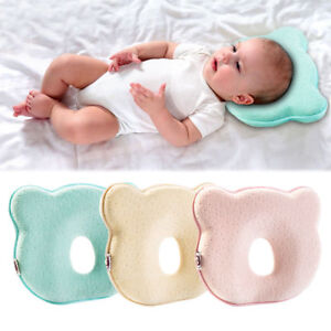 details about cute baby infant pillow memory foam prevent flat head anti roll baby care hot