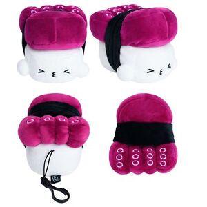 details zu kawaii japanese anime throw pillow cute tako octopus sushi plush toy 4 5 mini