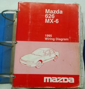 1995 MAZDA 626 MX6 SERVICE SHOP REPAIR MANUAL & WIRING