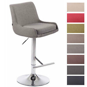 details sur tabouret de bar club tissu hauteur reglable chaise haute de bar design dossier