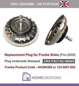 details about franke sink plug for basket strainer waste old style