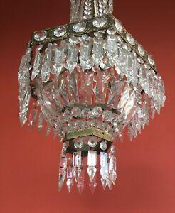 Lampada terra anni 50 lampade tavolo anni 30 lampadario gocce murano lampade. Lampadario Stille Impero Anni 40 50 Cristallo Ebay