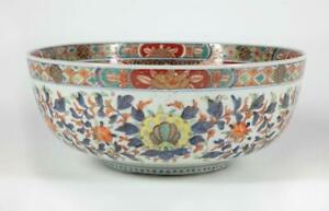 1840's Edo Japanese Imari Bowl Large 14 3/4 inch Diameter Very Finely Decorated
