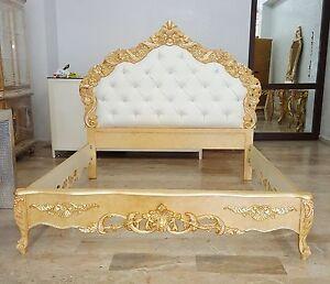 Se ti piace lo stile vintage, invece, puoi arredare la camera da letto con mobili in legno naturale tutti realizzati a mano in legno massello. Letto Matrimoniale Stile Barocco Legno Ecopelle Cristalli Camera Da Letto Ebay