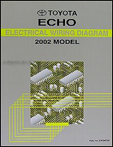 2002 Toyota Echo Electrical Wiring Diagram Manual | eBay