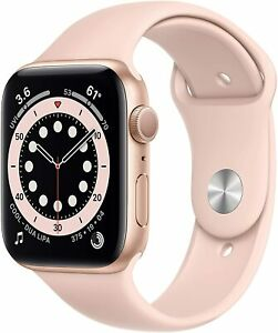 Apple Watch Series 6 (GPS, 44mm) - Gold Aluminum Case with Pink Sand Sport Band