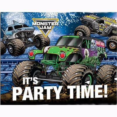 monster jam grave digger invitations and envelopes 8 ct birthday party supplies ebay