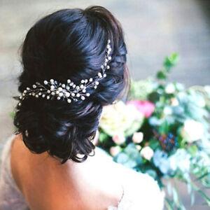 Pearls Crystal Wedding Hair Accessories Bridal Hair Comb Clips Slide Headpiece Ebay