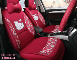 details about red 1 sets new universal car cushion cartoon cute four seasons car seat cover