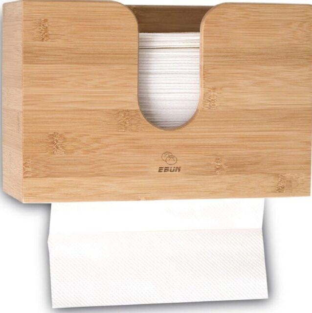 bamboo paper towel dispenser wall mount wood holder for office bathroom restroom