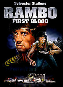 A4 Poster - Rambo First Blood (Blu-Ray DVD Movie Film ...