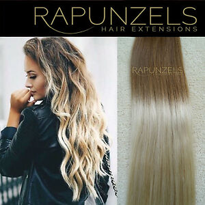 20 dip dye ombre clip in hair extensions diy weave remy human hair extensions ebay