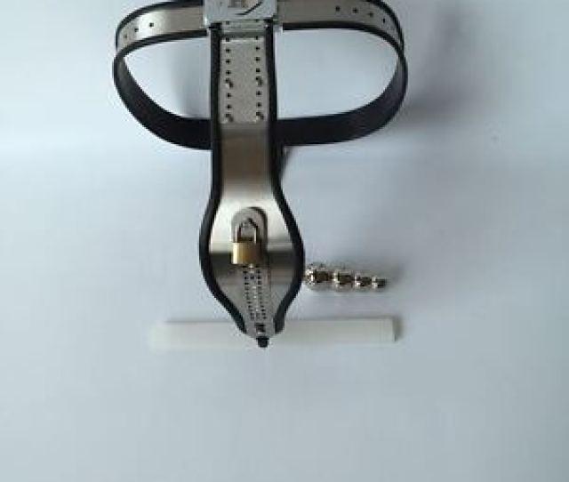 Image Is Loading Female Adjustable Model Y Stainless Steel Chastity Belt