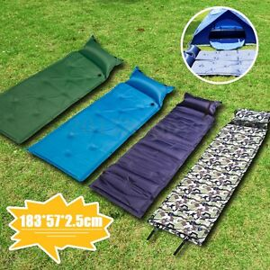Image Is Loading Self Inflating Air Mattress Mat Pad Pillow Sleeping