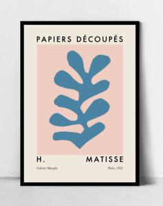 details about matisse cutout poster henri matisse art print pink and blue art