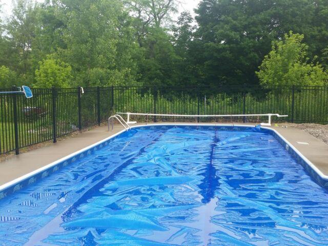 22 X 44 Blue Rectangular Swimming Pool Solar Cover Blanket 800 Series For Sale Online Ebay