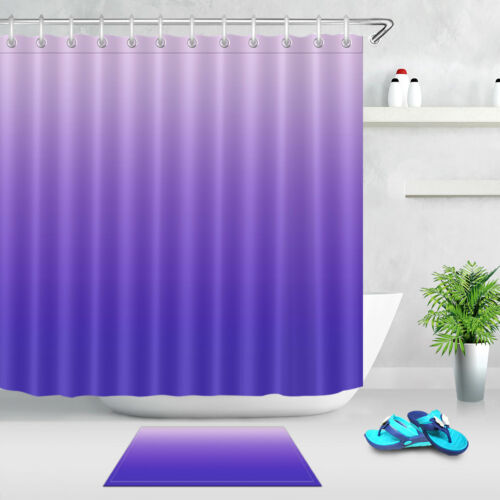 gradient purple bathroom waterproof fabric shower curtain hooks set 72x72 inch bathroom supplies accessories henrikhakansson home garden