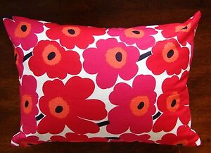 details about handmade red mini unikko pillow case cover many sizes marimekko fnland