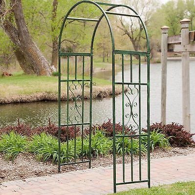 Metal Archway Arch Arbor Garden Wedding Trellis Outdoor