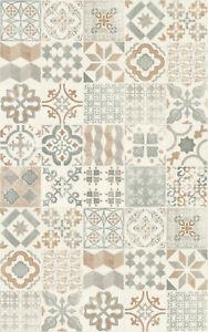 details sur tapis en vinyle carreaux de ciment cuisine americaine sejour salle de bain