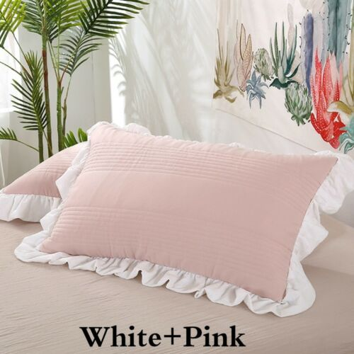 This romantic shabby chic mobile home is worthy of a chapter in rachel ashwell's next shabby chic decorating book. 1 Pair Pillow Case Covers Shabby Chic Cottage Sham Country Ruffles Soft Home New Bed Pillows Bedding