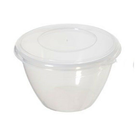 whitefurze 2l litre round microwave plastic pudding storage bowl with lid for sale online ebay