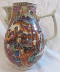 Antique Chinese Famille Rose Export Porcelain large jug QIANLONG 18th C QING. AF