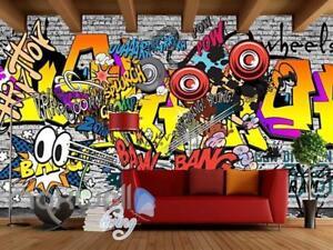 Graffiti Comic Sounds Colour Wall Art Art Wall Murals Wallpaper Decals Prints De