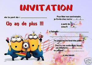 cartes invitation anniversaire ref 971