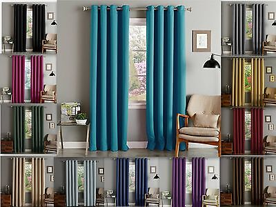 lina solid woven thermal grommet blackout window curtain panel 55 extra wide ebay