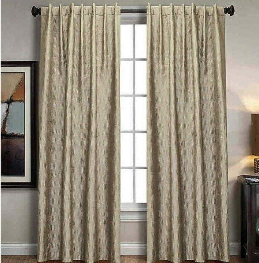 sonoma window curtain panel rod pocket back tab 84 inch in cream