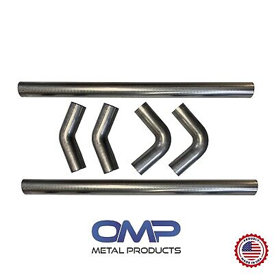 universal aluminized exhaust mandrel bend kit 3 inch 1 5d 4 5 clr radius ebay
