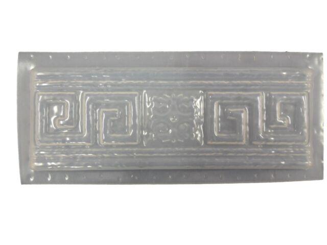 greek key tile trim border cement plaster concrete mold set 6003 moldcreations