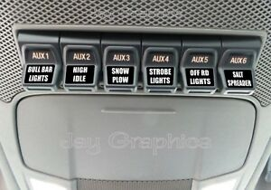 Custom Upfitter Switch Decals  Labels Ford F250 F350