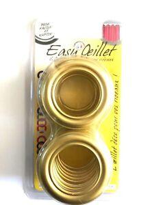 details sur oeillets pour rideaux a clipser lot de 8 coloris or dore 701 o 41mm