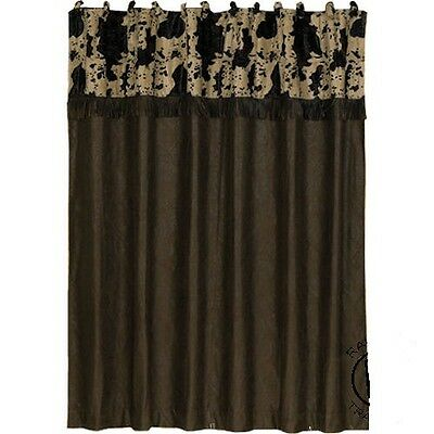 western cow print curtain and valance