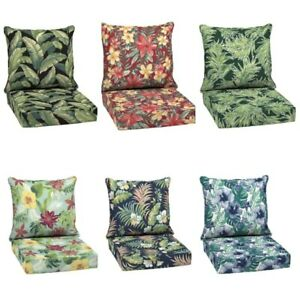 details about outdoor deep seat chair patio cushions set pad uv fade resistant furniture 24