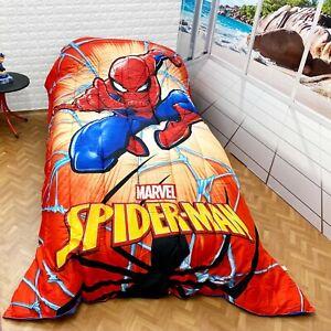 Trapunta spiderman singola piumone uomo ragno microfibra by marvel. Spiderman Trapunta Piumino 180x260cm Invernale Letto Singolo Originale Ragazzi Ebay