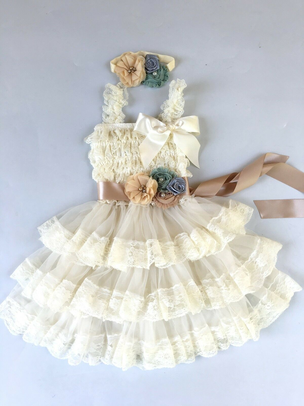 Flower Girl Dress Girl Lace Dress Baby Lace Dress Rustic