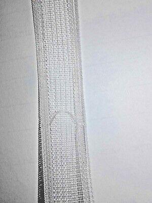 Riloga in alluminio per tende a pacchetto silent g. Fettuccia Per Tende A Pacchetto Trasparente Termoadesiva Ebay