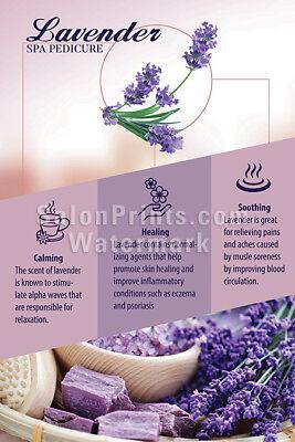 nail salon poster herbal spa pedicure