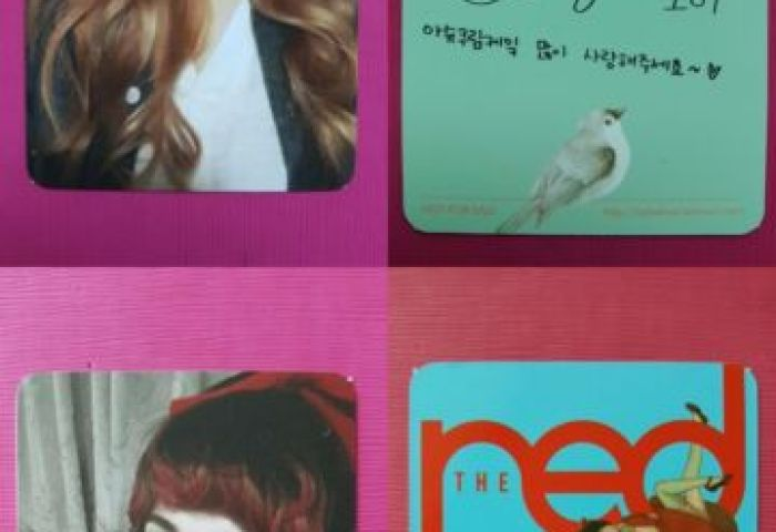 Red Velvet Wendy 2pcs Official Photo Card Ice Cream Cake The Red