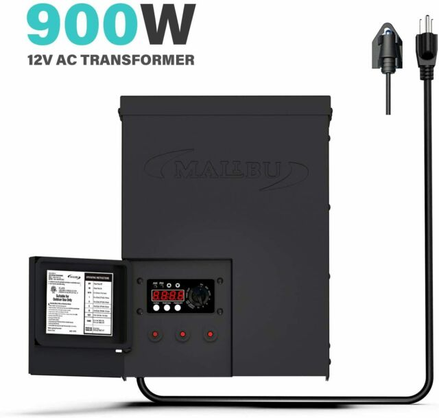 malibu 900 watt power pack with sensor photo cell and weather shield for low
