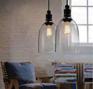 Retro Farm Style DIY Huge Size Ceiling Lamp Light Glass Pendant     Image is loading Retro Farm Style DIY Huge Size Ceiling Lamp