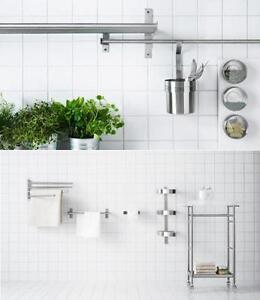 Ikea Grundtal Cuisine Rangement Mural Gamme Salle De Bain Accessoires En Un Ebay