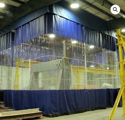 waterproof heavy duty industrial commercial pvc vinyl clear curtain walls new ebay