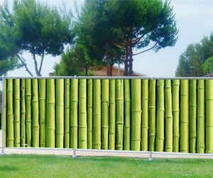 details sur brise vue imprime jardin terrasse balcon deco bambous 9131