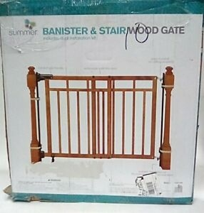 Summer Banister And Stair Top Of Stairs Baby Gate With Dual | Top Of Stairs Banister | High End | Indoor | Barn Beam | Redo | Glass